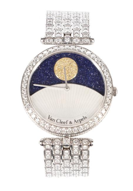 "Van Cleef & Arpels ""Jour Nuit"" diamond-encrusted, 24-hour automatic wristwatch that originally sold for $204,000 in Dec.  2011."