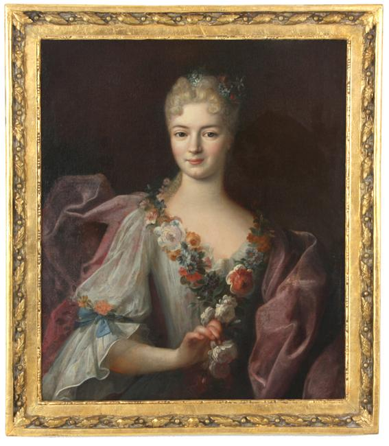 This lovely portrait of a young woman, attributed to Jean-Marc Nattier (Fr., 1685-1766) is expected to fetch $15,000-$25,000.