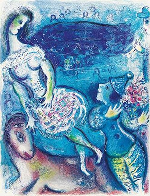 Marc Chagall, Cirque, portfolio with complete text, 23 color lithographs and 15 lithographs, 1967.  Estimate $120,000 to $180,000.