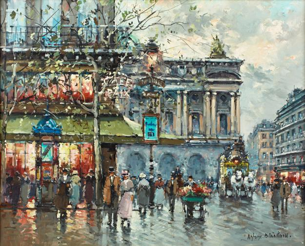 This gorgeous Parisian street scene by Antoine Blanchard (Fr., 1910-1988) is expected to fetch $4,000-$6,000 at Crescent City Auction Gallery's Sept.  16-18 auction in New Orleans, La.