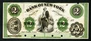 Bank of New York, 1860 proof obsolete banknote.