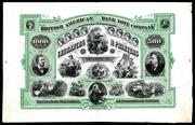 British American Bank Note Company advertising sheet, circa 1860s (est.  $3,000-$6,000).