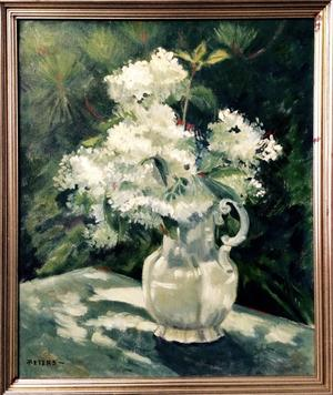 This lovely still life painting is one of more than 40 original artworks by the late regional artist Lucy Mustin Peters to be sold November 15th.