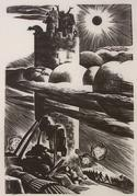 Sanctuary, 1939, wood engraving, 7 x 5 inches