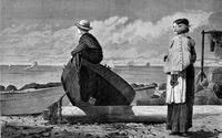 Winslow Homer, Dad¹s Coming, published in Harper¹s Weekly, 1873, wood engraving on newsprint