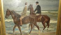 """Two Riders on the Beach"" by Max Liebermann"