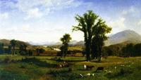 Albert Bierstadt, Mt.  Ascutney from Claremont, New Hampshire, 1862.  Oil on canvas.  40 ½ x 70 ½ inches.  Courtesy Fruitlands Museum, MA.