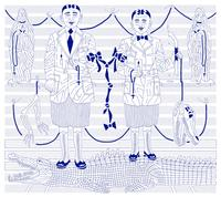 """The Making of Brothers"" 2010, ink on paper, 37 x 42 inches"