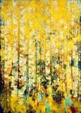Golden Woodland by SUSAN SWARTZ, 2009, 62 x 86, at National Museum of Women in the Arts.