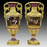 19th century vases made by the Imperial Porcelain Factory for the Russian czar.