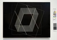 Josef Albers, Transformation of a Scheme No.  27 1952 Machine engraving on black vinylite overall: 17 in.  x 22 1/2 in.  (43.2 cm x 57.1 cm) Gift of Martina Schaap Yamin (Class of 1958)