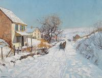 "EDWARD WILLIS REDFIELD (American 1869-1965) ""WINTER SUNLIGHT."" The George D.  Horst Collection of Fine Art."
