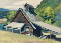 Edward Hopper (1882-1967), Vermont Sugar House, 1938, watercolor on paper, 14 x 20 inches.  Loan from Mr.  Louis Moore Bacon.