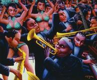 Archibald J.  Motley Jr.  (1891–1981) Hot Rhythm, 1961 Oil on canvas © Valerie Gerrard Browne Collection of Mara Motley, MD, and Valerie Gerrard Browne