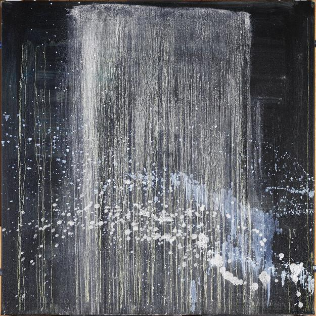 Pat Steir, Very Pretty Waterfall for Herb and Dorothy, 1996–97.  Oil on canvas.  Harvard Art Museums/Fogg Museum, The Dorothy and Herbert Vogel Collection: Fifty Works for Fifty States, a joint initiative of the Trustees of the Dorothy and Herbert Vogel Collection and the National Gallery of Art, with generous support from the National Endowment for the Arts and the Institute of Museum and Library Services, 2008.330.14.