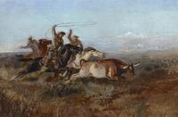 Charles M.  Russell, Unbranded, ca.  1897.  Oil on canvas.