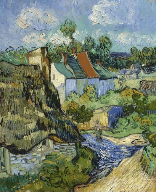 Vincent van Gogh (Dutch, 1853–1890), Houses at Auvers, 1890.  Oil on canvas, 75.6 x 61.9 cm.  Museum of Fine Arts, Boston, bequest of John T.  Spaulding Photograph © 2015 Museum of Fine Arts, Boston