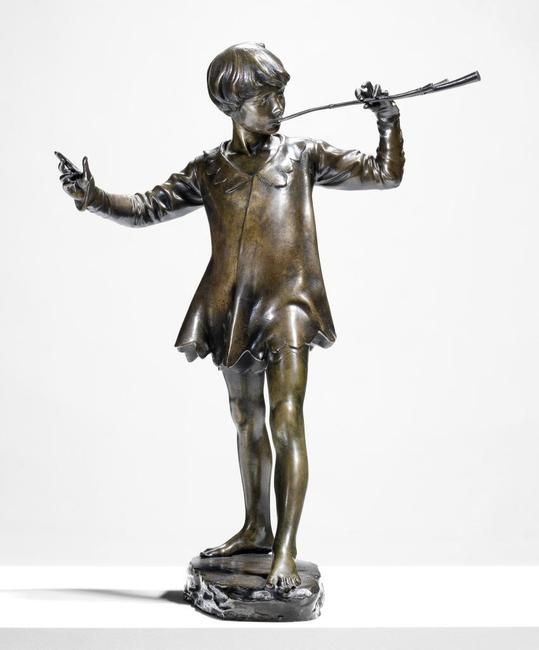 A bronze figure of Peter Pan by Sir George Frampton, £25,000-30,000