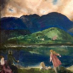 """Coopers Lake, Woodstock,"" an oil on panel, was painted by George Wesley Bellows in 1924.  The work was one of a collection valued at more than $8.75 million, donated in 2018 by Michael A.  Mennello to the Mennello Museum of American Art in Orlando.  (Credit: Collection of the Mennello Museum of American Art, 2018.  Gift of Michael A.  Mennello)"