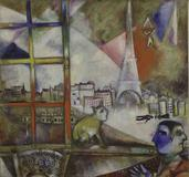 """Paris Through the Window,"" 1913, by Marc Chagall."