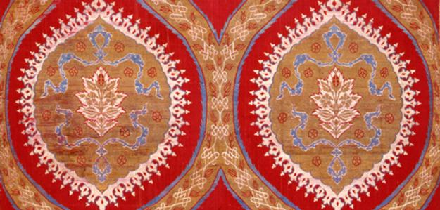 Detail of Fabric length, Ottoman Empire (1299–1923), Turkey, Istanbul, or Bursa, mid-16th century.  Silk, metal-wrapped silk.  The Textile Museum 1.70.  Acquired by George Hewitt Myers in 1952.