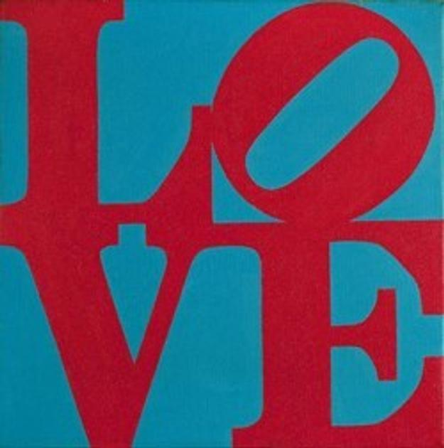 Robert Indiana (Love, 1965, Est: $150,000-250,000).