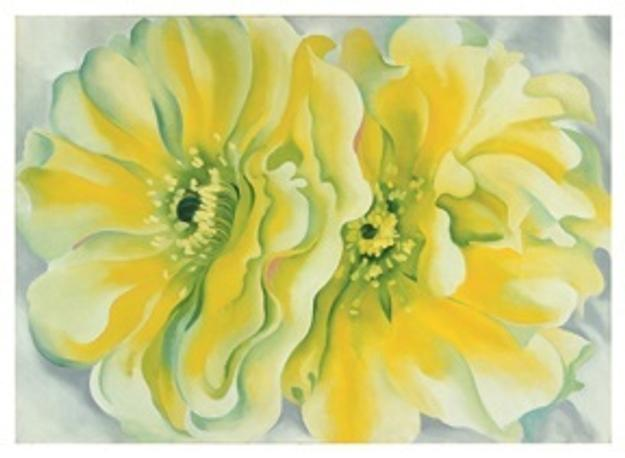 Georgia O'Keeffe (1887−1986), Yellow Cactus, 1929.  Oil on canvas, 30 × 42 inches.  Dallas Museum of Art, Texas.  Patsy Lacy Griffith Collection, Bequest of Patsy Lacy Griffith.  1998.217.