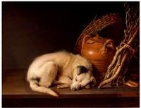 Sleeping Dog (1650) by Gerrit Dou, Rose-Marie and Eijk van Otterloo Collection.