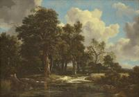 Jacob van Ruisdael, Edge of a Forest with a Grainfield, c.  1656.  Oil on canvas, 41 x 57 ½ in.  (103.8 x 146.2 cm)