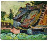Hermann Max Pechstein, Zerfallenes Haus.  Around 1906/07.  Oil on canvas, 37 x 45 cm (14.5 x 17.7 in).  Estimate: € 300.000-400.000.