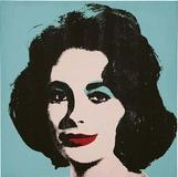 "Warhol's ""Liz #5 (Early Colored Liz)"", 1963 sold for $27m (est $20m-$30m)."