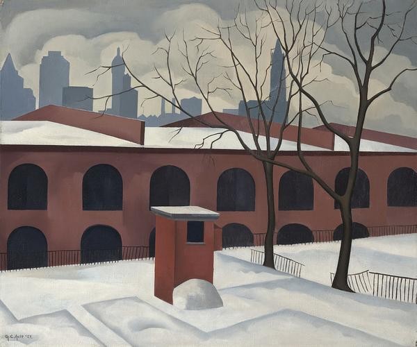 View from Brooklyn, 1927, by George Ault (1891-1948).  The Jan T.  and Marica Vilcek Collection, Promised gift to The Vilcek Foundation