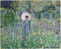 Frederick Carl Frieseke's Foxgloves from ca.  1912-13 brought $2.2 million at Christie's.