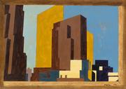 Lot 75 Charles Sheeler, New York #3 - Study, gouache and pencil, 1950.  Estimate $100,000 to $150,000.