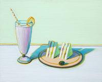 Milkshake & Sandwiches by Wayne Thiebaud sold for over $1 million at Bonhams & Butterfields.  Art © Wayne Thiebaud/Licensed by VAGA, New York, NY.  (Reproduction of this image, including downloading, is prohibited without written authorization from VAGA, 350 Fifth Avenue, Suite 2820, New York, NY 10118.  Tel: 212-736-6666; Fax: 212-736-6767; e-mail: info@vagarights.com; web: www.vagarights.com)