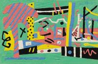 Stuart Davis, Summer Landscape#2, offered at Sotheby's on May 22.
