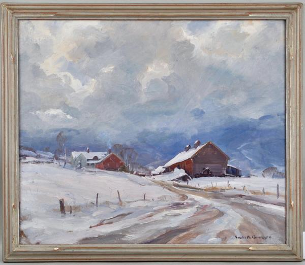 Emille A.  Gruppe (Am.  1896-1978) First Snow.
