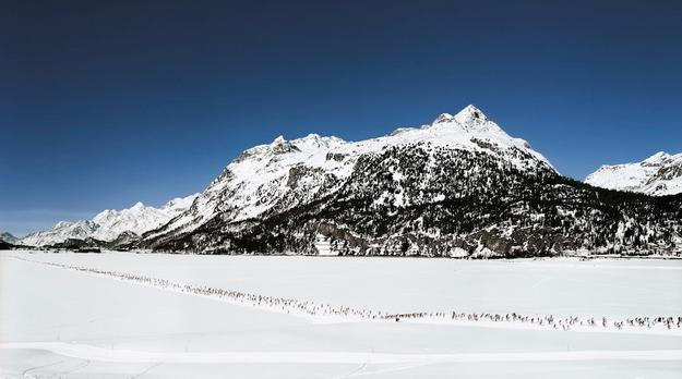 Andreas Gursky (German, born 1955) Engadin I (1995).  Inkjet-print.  207 x 356 x 6.2 cm.  Copyright: Andreas Gursky / ARS, 2015.  Courtesy Gagosian Gallery