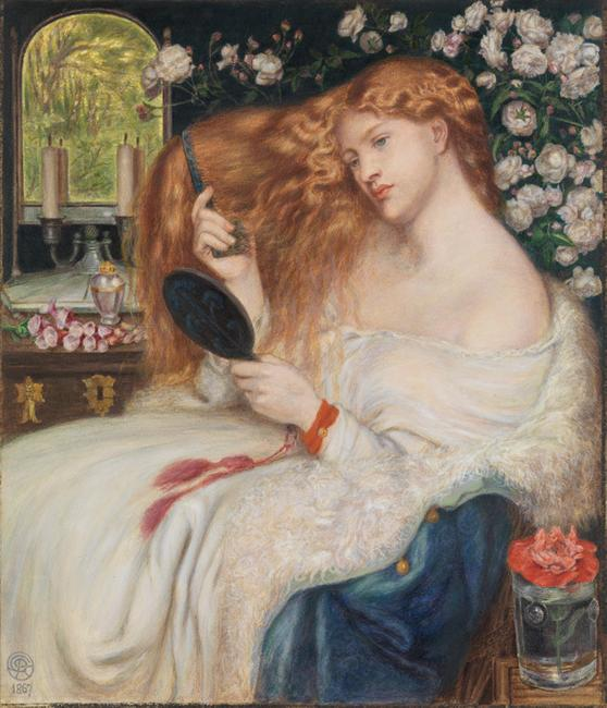 Dante Gabriel Rossetti (1828–1882) and Henry Treffry Dunn (1838-1899) Lady Lilith 1867 Watercolor and gouache on paper, 20 3/16 x 17 5/16 in.  (51.3 x 44 cm)