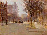 The top lot of the sale was this painting by Paul Cornoyer (Am., 1864-1923), titled A Spring Day, New York ($96,000).