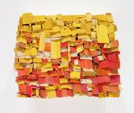 Ann Hamilton (b.  1956) The People's Republic , 2013 Paperback book slices, wood, bookbinder's glue 9 3/4 x 12 x 4 3/4 in