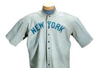 This Babe Ruth jersey sold for a record $4.4 million at SCP Auctions.
