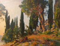 John Singer Sargent, 'Cypresses and Pines', Autumn 1913 (71.12 x 91.44 cm)