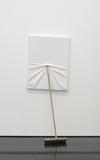 Maurizio Cattelan, Untitled, 2009.  Canvas, wood, and plastic.  82 5/8 x 33 ½ x 23 5/8 inches.