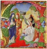 Three Marys at the Tomb - Bartolomeo Rigossi da Gallarate - In 1992 the J Paul Getty Museum acquired this miniature from LES ENLUMINURES.