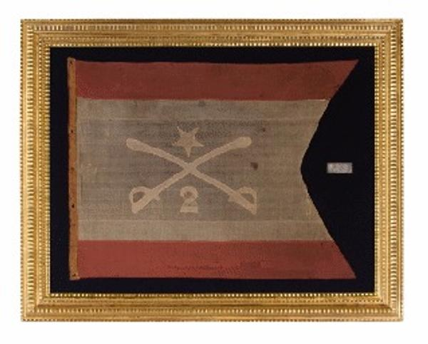 The headquarters flag of Civil War General Philip Henry Sheridan.