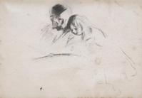Drawing on paper by James Abbot McNeil Whistler (1834-1903).  Estimate: $6,000-$8,000.