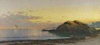 Alfred Thompson Bricher (1837-1908) New England Coast, c.  1890.  Oil on canvas 15 1/4 x 33 inches.  Signed at lower right,: ATBricher.  Gavin Spanierman Ltd.
