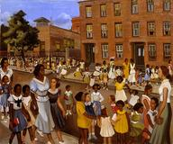 Allan Rohan Crite (1910–2007), School's Out, 1936, oil on canvas, 30 1/4 X 36 1/8 in., Smithsonian American Art Museum, Transfer from the Museum of Modern Art, 1971.447.18