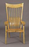 Fiddle-back Chair Sam Maloof (1916 – 2009) Chair, 1984 Fiddle-back Maple and ebony 46 ½ x 25 ½ x 23 ¾ in.  Collection of the Sam and Alfreda Maloof Foundation for Arts and Crafts Alta Loma, Calif.  Credit: John Sullivan, The Huntington Library, Art Collections, and Botanical Gardens
